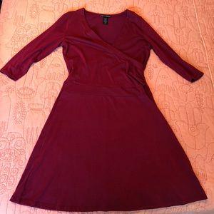 Faux wrap fall dress 💃🏻🍁👢
